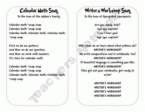 pattern math song every first year teacher needs to have these songs