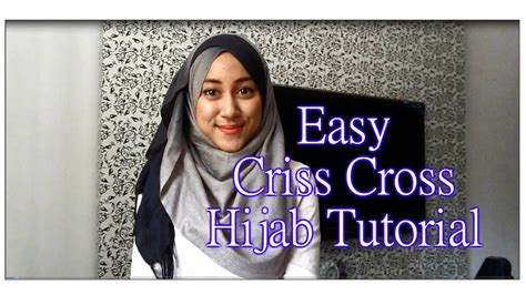 tutorial 1 simple criss cross with ombre shawl jilbab hijabdiariesxo