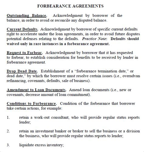 Firm Commitment Letter Mortgage Forbearance Agreement 7 Free Documents In Pdf Word Excel