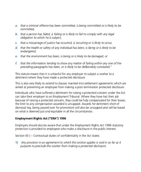 14 Confidential Settlement Agreement Templates Free Sle Exle Format Download Free Contract Clause Template