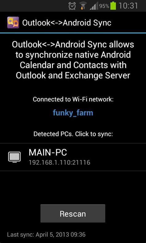 how to sync outlook calendar with android outlook android sync android apps on play