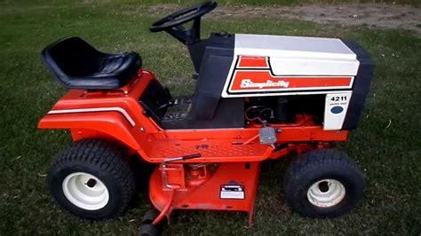 Simplicity Garden Tractors by 1985 Simplicity 4211 11 H P 36 Cut Lawn Tractor