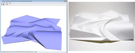 Origami Design Tool - ori ref a design tool for curved origami based on reflection