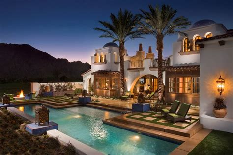 Small Colonial House by Beautiful Spanish Hacienda In La Quinta Ca Homes Of The