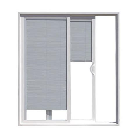 Aluminum Clad Patio Doors Jeld Wen W2500 72 Quot X 80 Quot Wht Alum Clad Ox Slide Patio Door W Blinds In Glass At Menards 174