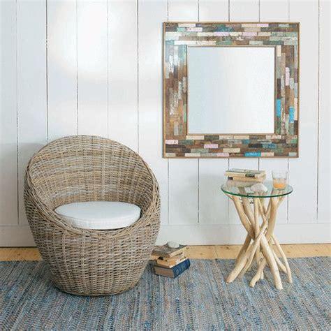 Cermin Dinding Rotan Rattan Mirror ivoorkleurige kubu rotan zetel bathroom teak