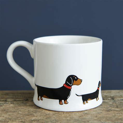 puppy mug dachshund sausage mug by sweet william designs notonthehighstreet