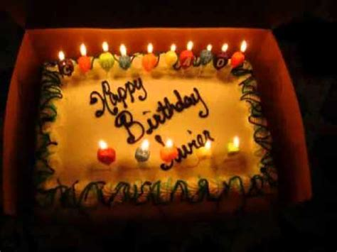 imagenes cumpleaños javier feliz cumplea 209 os javier escobar wmv youtube