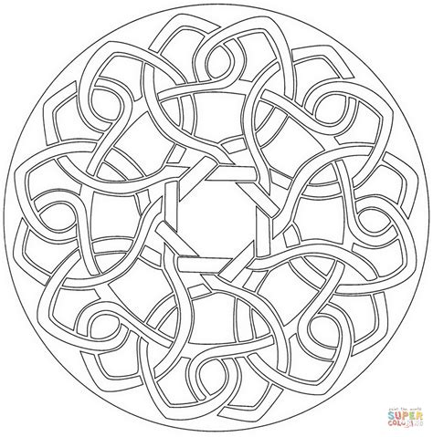 celtic coloring pages celtic knot mandala coloring page free printable