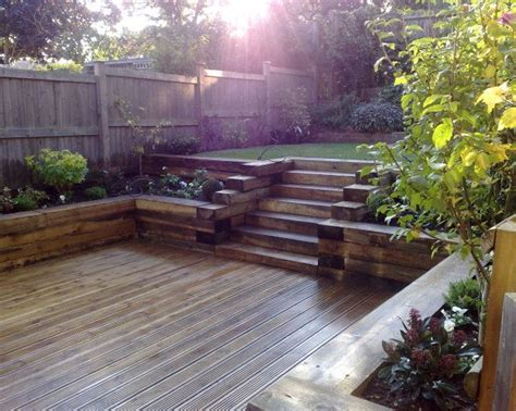 How To Level Backyard Slope by 25 Best Ideas About Sleeper Steps On Sleeper
