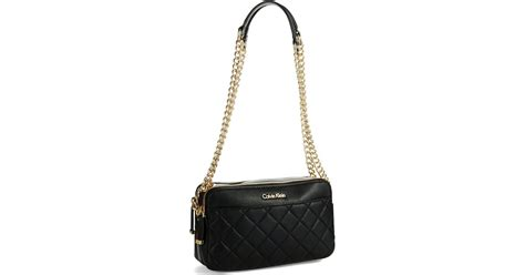 Calvin Klein Quilted Handbag by Calvin Klein Quilted Crossbody Bag In Black Lyst