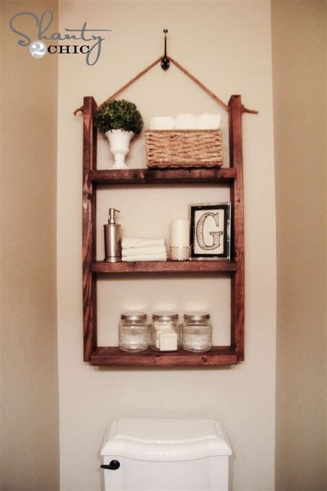 Bathroom Shelf Idea | diy bathroom storage handspire