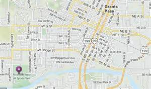 grants pass oregon map map to park congratulations to medford mustangs