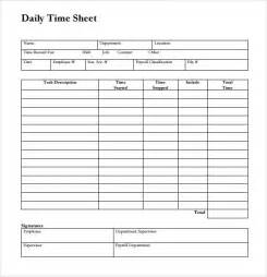 Hourly Timesheet Template by Sle Time Sheet 10 Exle Format