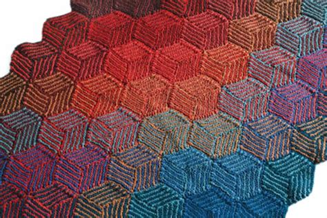 Decke Aus Quadraten Stricken by Decke Aus Illusion Cubes Stricken Lernen H 228 Keln Lernen