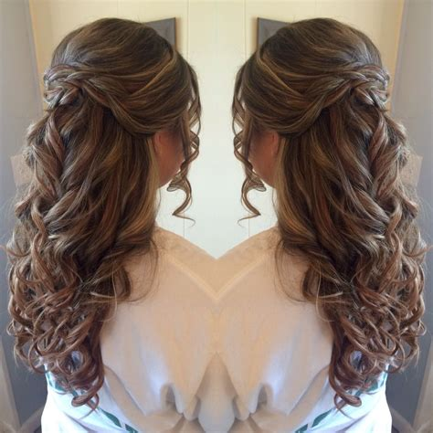 casual hairstyles with clips half up half down prom hair styles by rhi pinterest