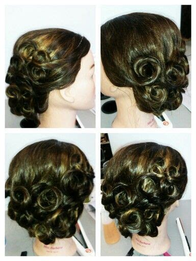 Pin Curls Updo Hairstyles by 1000 Ideas About Pin Curl Updo On Pin Curls
