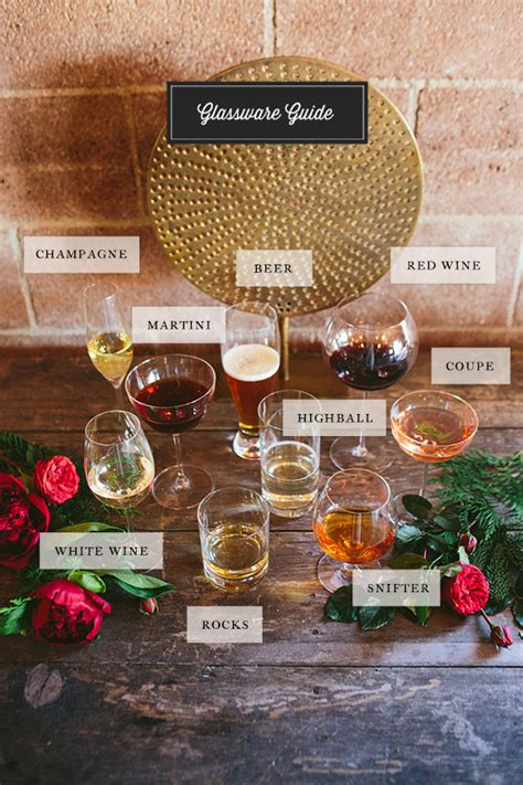 barware glasses guide holiday cocktail registry cocktail recipes 100 layer cake
