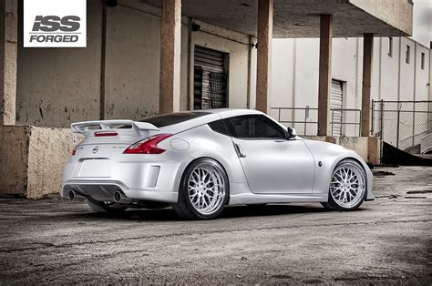 nissan 370z custom black nissan 370z on iss forged spyder iss forged