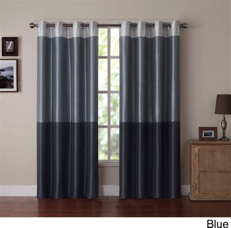 contemporary drapery panels park slope color block grommet curtain panel