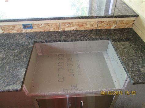 Countertop Radius by Granite Outdoor Kitchen Countertop W 3 8 Radius Top