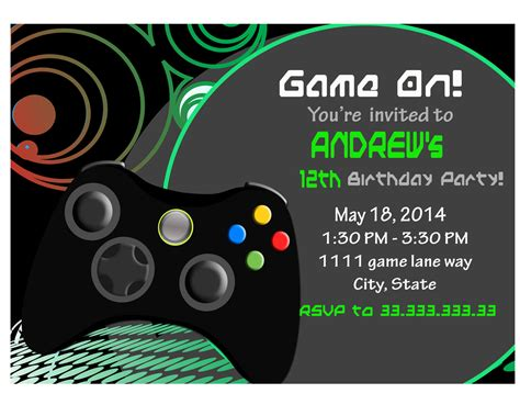 free printable xbox birthday invitations video game party invitations gangcraft net