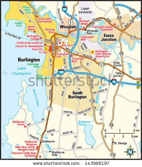burlington vt map vermont map stock images royalty free images vectors