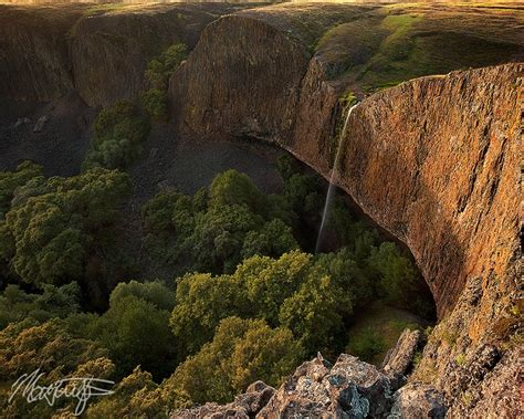Table Mountain Oroville by Phantom Falls Waterfall Photograph On Table Mountain Near Oroville California At Sunset