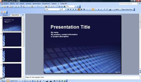 software powerpoint template