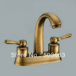 wholesale antique brass 2 handle bathroom basin sink