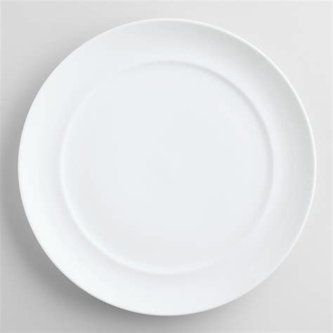 white spin dinner plates set of 4 world market