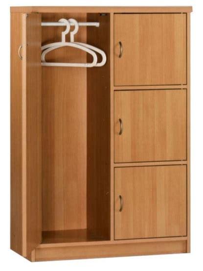 Beech Wardrobe - wardrobe storage cupboard drawers beech 4 door chest rezo