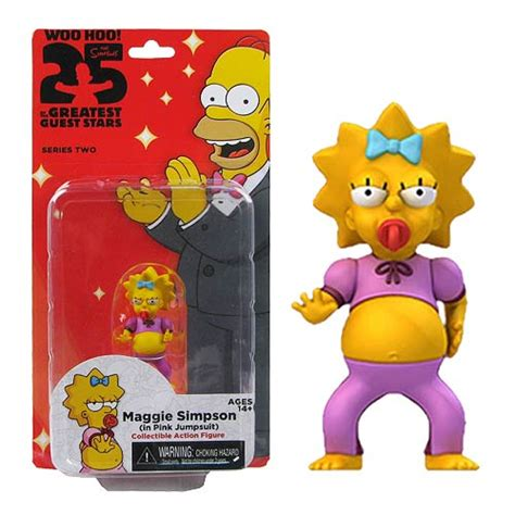 The Simpsons Family Figure simpsons maggie pink jumpsuit 5 inch series 2