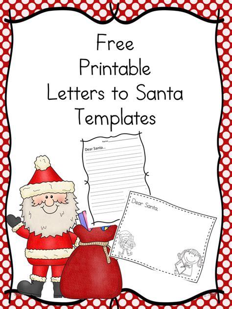 santa letter cute template write letter santa
