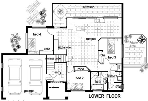 dual living floor plans dual living areas 4 bed room house plan