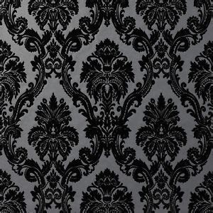 black and white velvet wallpaper black and white velvet flocked wallpaper wallpaper directory
