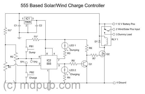 555 solar charge controller function details