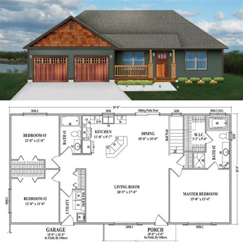 1500 Square Foot Ranch House Plans topeka iii wardcraft homes