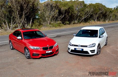 bmw volkswagen bmw m235i vs volkswagen golf r performance comparison