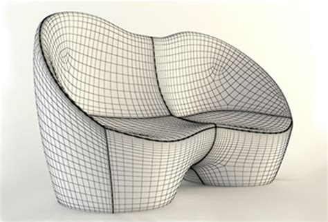 ouch couch sofa couch ouch karim rashid casamania by 3d model