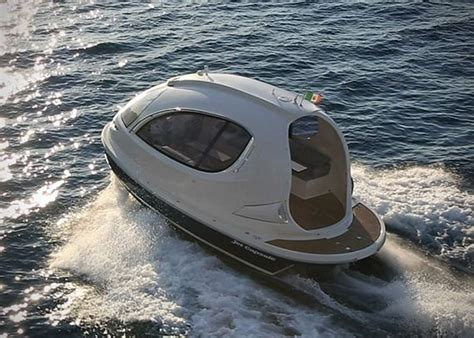 small boat tender jet capsule yacht tender brings compact size spaceship looks
