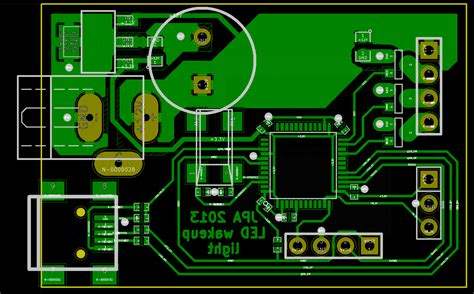 layout pcb running led led wakeup light essential scrap