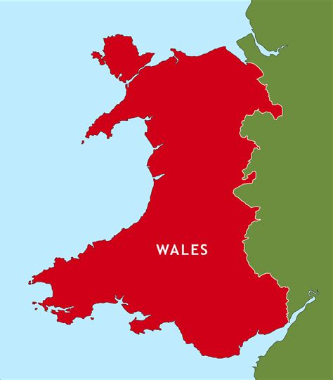 map of wales wales outline map royalty free editable vector map maproom