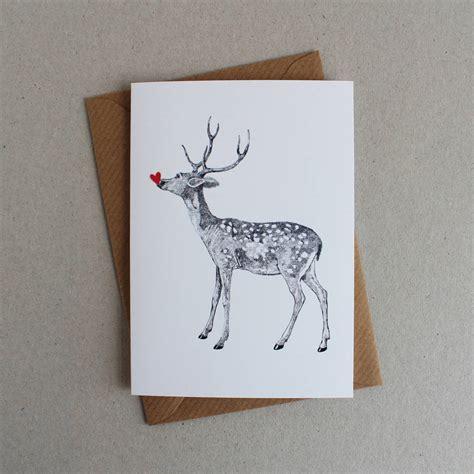 raindeer shiers pack of five deer greeting cards by ros shiers notonthehighstreet