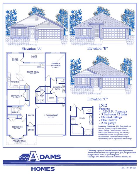 adams home floor plans villages of westport adams homes