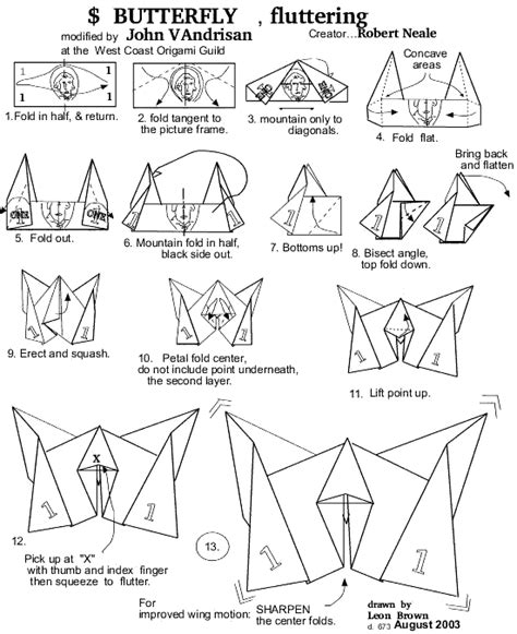 How To Make Money Butterfly Origami - origami butterfly make it for a simple sweet souvenir