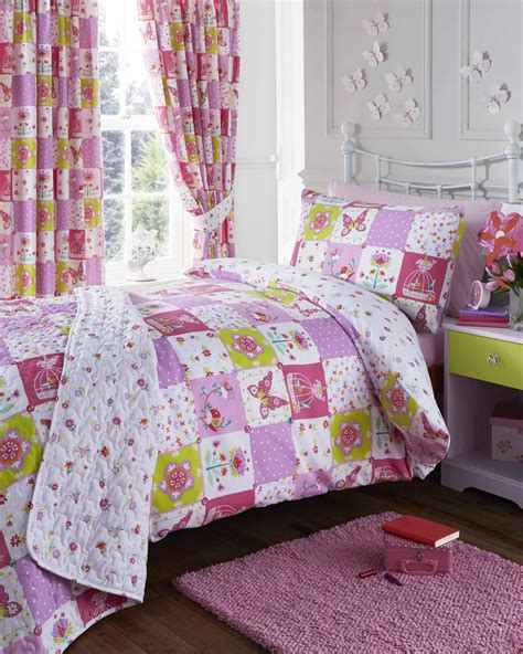 Patchwork Quilt Duvet Cover - patchwork pink quilt duvet cover pillowcase set or