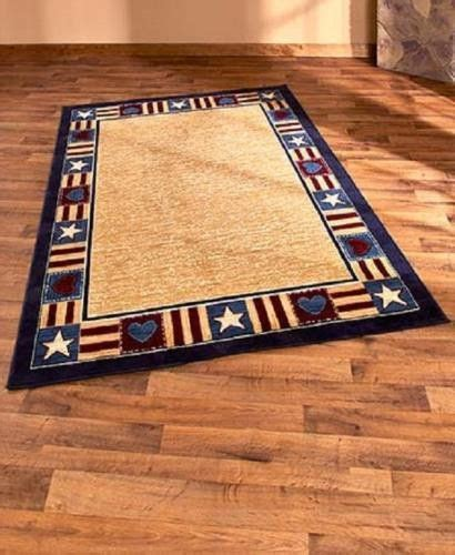 farm rugs americana patriotic area rug 63 quot x 90 quot country rustic primitive cabin lodge farm for the home