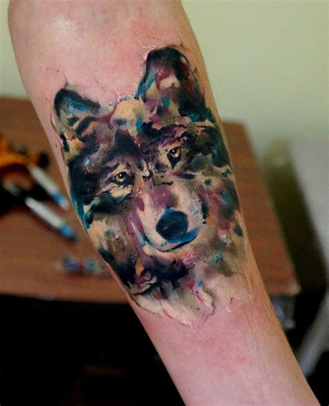 watercolor wolf tattoo lone wolf best ideas gallery