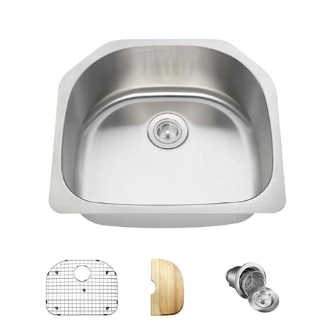 Mr Direct Kitchen Sinks Reviews Mr Direct Undermount Stainless Steel 23 In Single Bowl